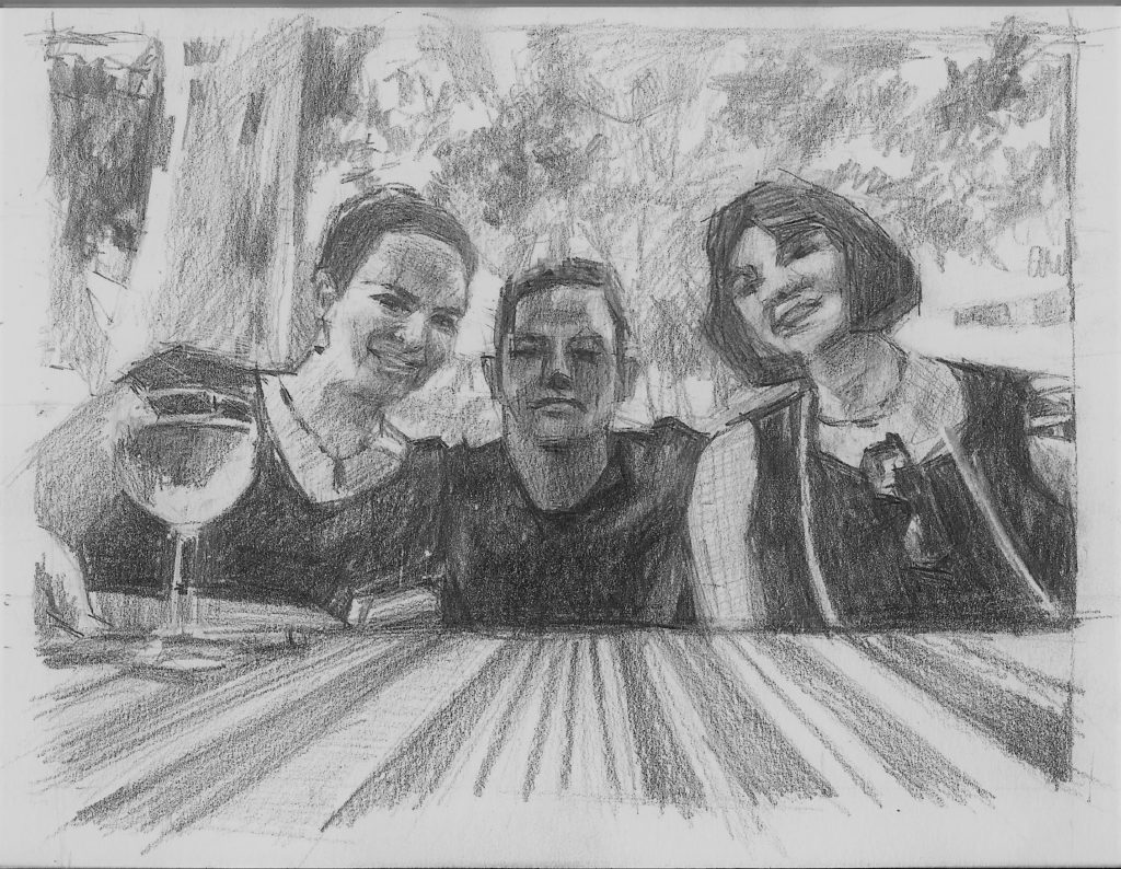 Drawing of friends is all about ajays